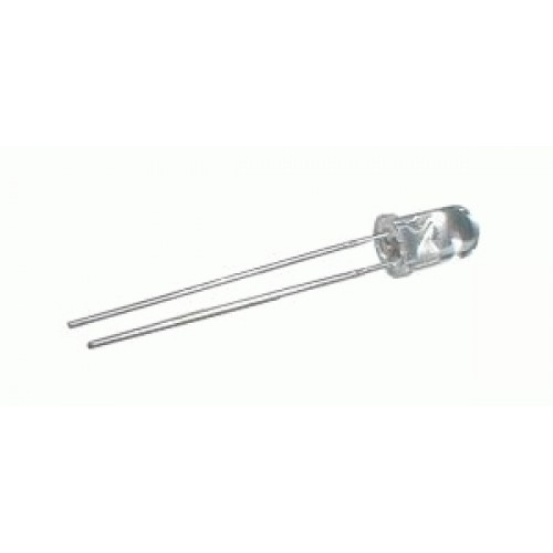 LED 5mm modrá 2mA nízkopríkonová číra