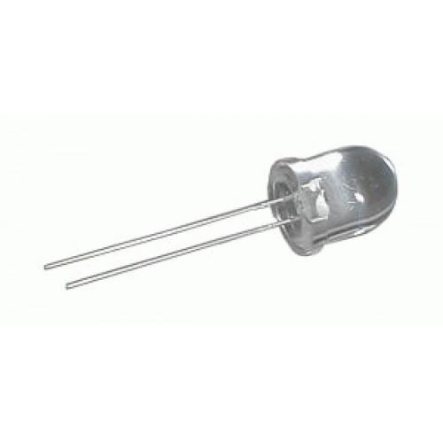 LED 10mm biela 3500mcd 25° čirá