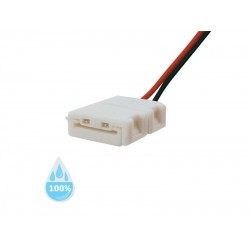 Konektor nepájivý pre LED pásiky 3528 30,60LED/m o šířce 8mm s vodičom, vodeodolný IP68