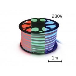 LED neon hadica 230V, 5050, 60LED/m IP67 max. 14,4W/m RGB (1ks=1m) zaliata