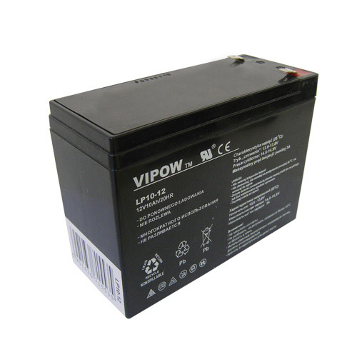 Batéria olovená 12V/ 10Ah VIPOW bezúdržbový akumulátor