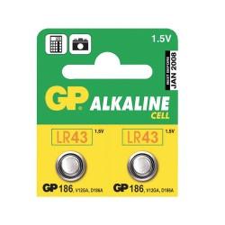 Batéria LR43 (186) GP alkalická