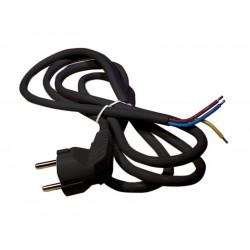 Flexo šnúra PVC 3x1,0mm 3m čierna