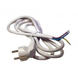 Flexo šnúra PVC 3x1,5mm 3m biela