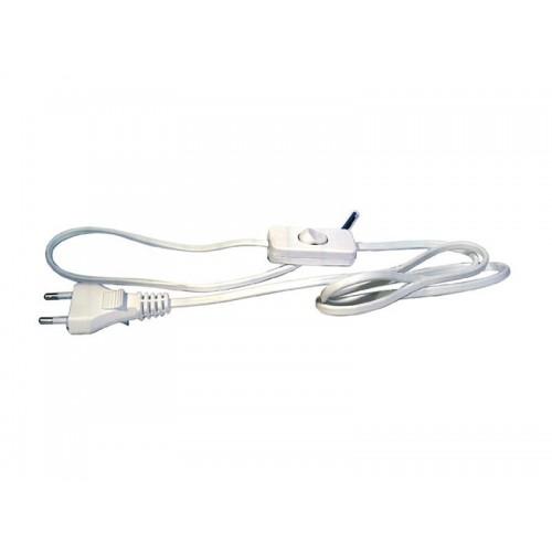 Flexo šnúra PVC 2x0,75mm 3m biela s vypínačom