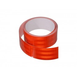Samolepiaca páska reflexná 5m x 5cm červená (rolka 5m)