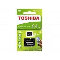 Karta pamäťová TOSHIBA micro SD 64 GB s adaptérom