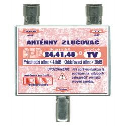 Anténny zlučovač AZP24,41,48+TV IEC