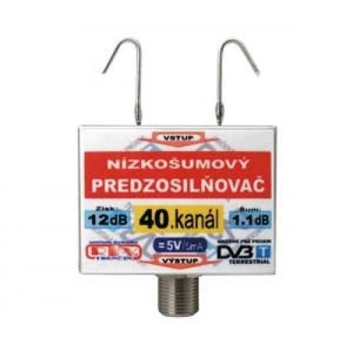 Anténny zosilňovač DVB-T 40K 5V 12dB F