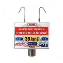 Anténny zosilňovač DVB-T 39K 5V 30dB F
