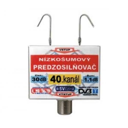 Anténny zosilňovač DVB-T 40K 5V 30dB F DOPREDAJ