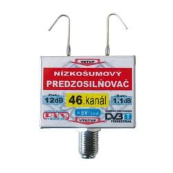 Anténny zosilňovač DVB-T 46K 5V 12dB F