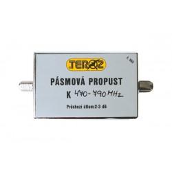 Anténna priepusť pásmová K21-60 (470-790Mhz) F-F Teroz